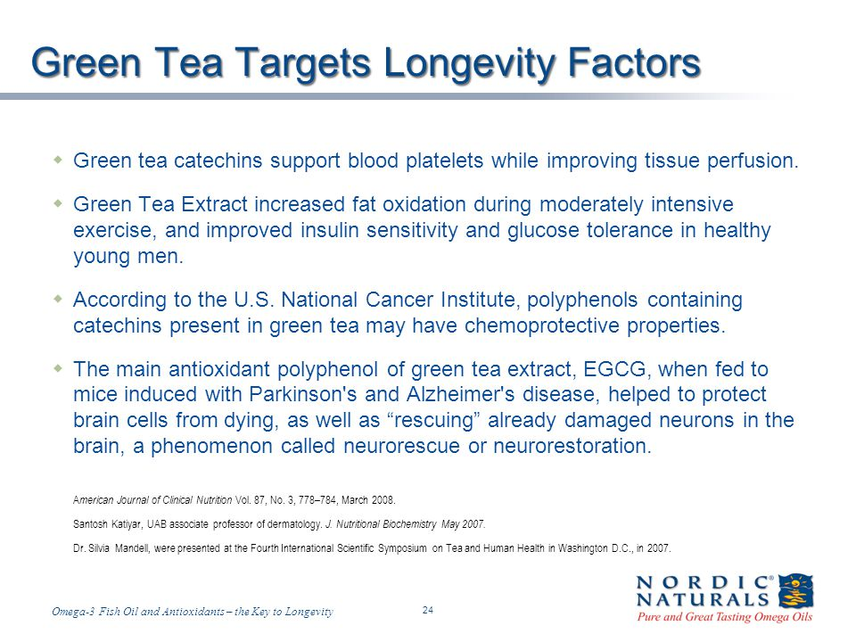 Green Tea Targets Longevity Factors