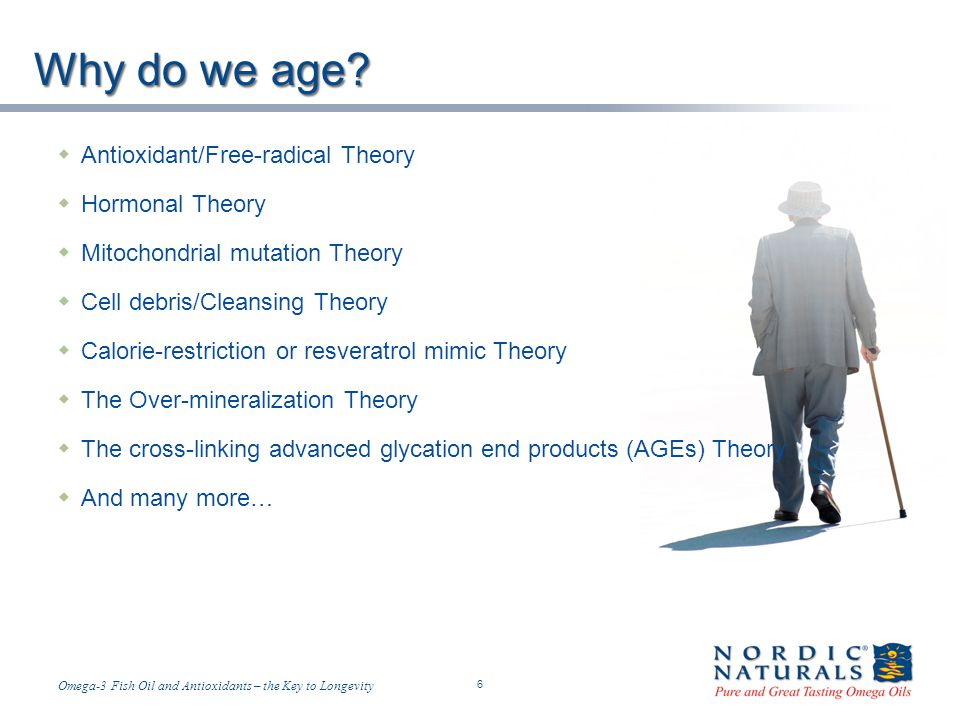 Why do we age Antioxidant/Free-radical Theory Hormonal Theory