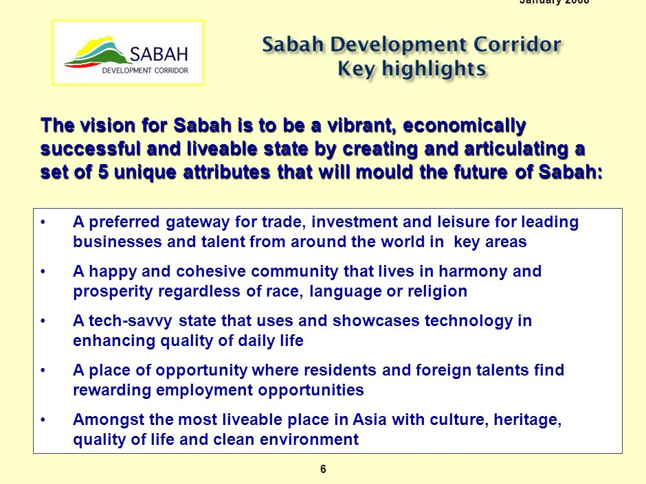 Sabah is blessed with excellent Location, Resources and Bio-diversity which it can build on…