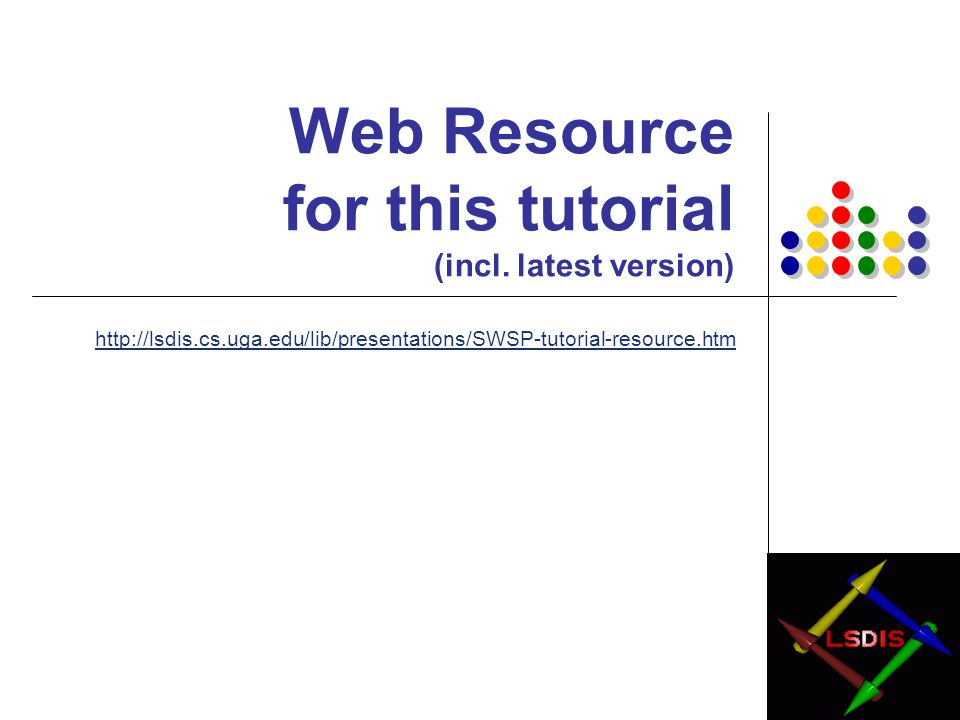 Web Resource for this tutorial (incl. latest version)