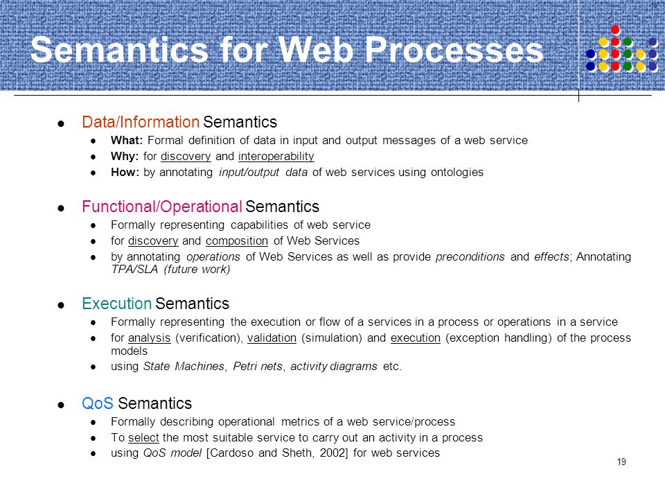 Semantics for Web Processes