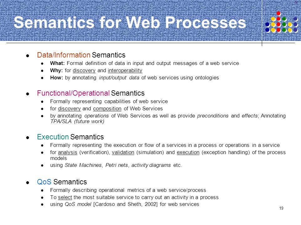 Semantics for Web Processes