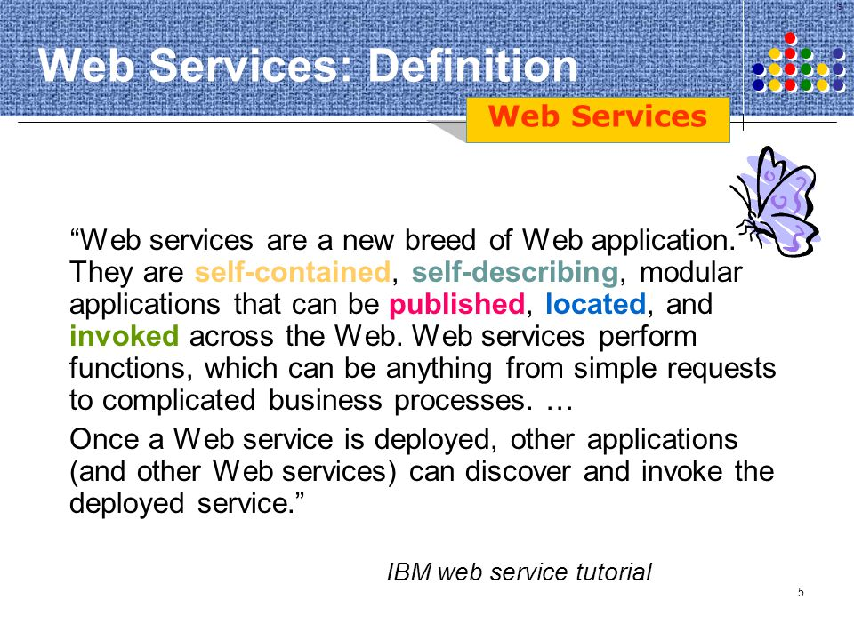 Web Services: Definition