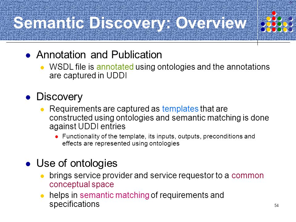 Semantic Discovery: Overview
