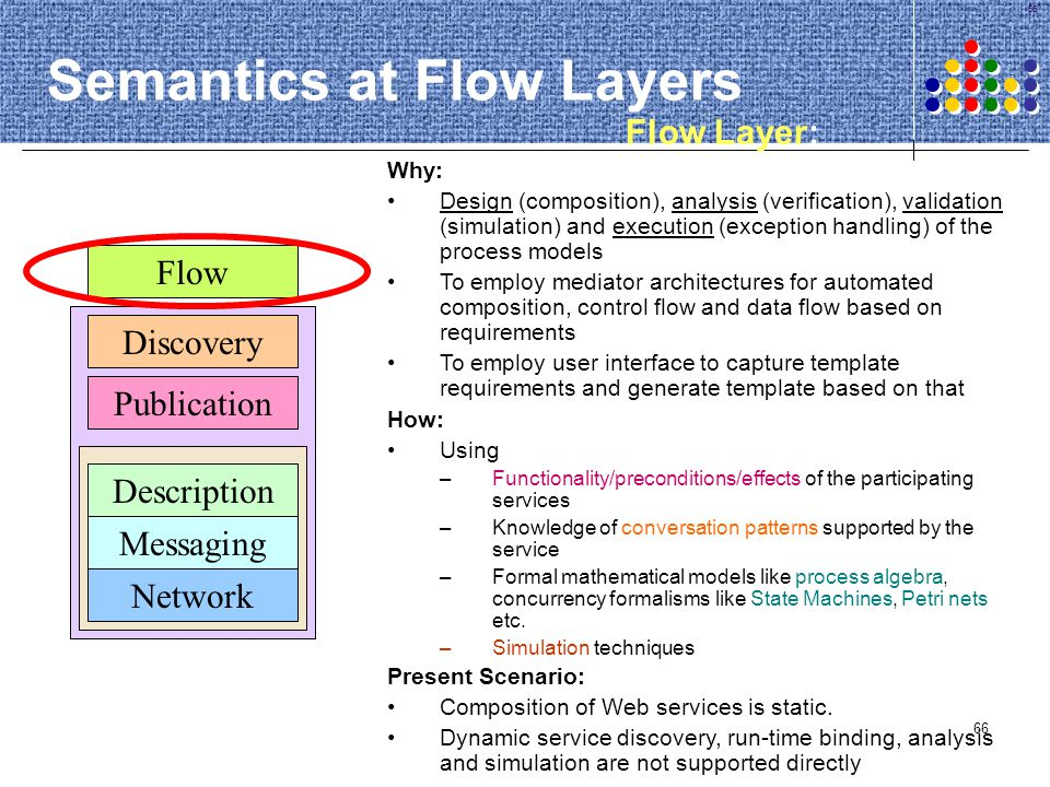 Semantics at Flow Layers