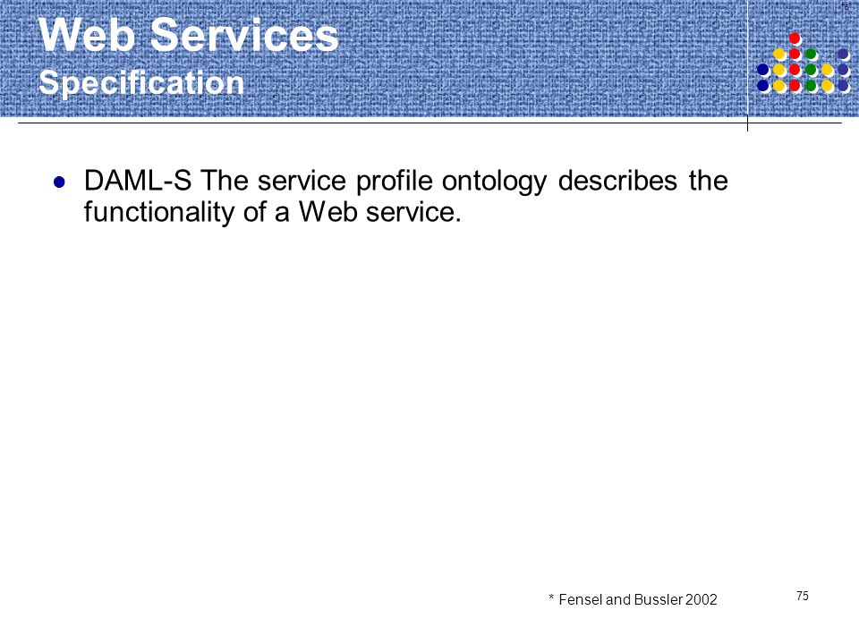 Web Services Specification