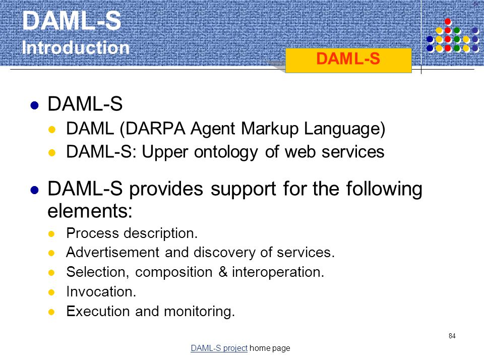 DAML-S project home page