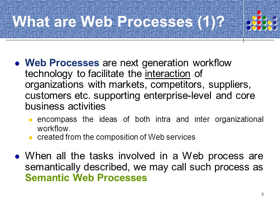 What are Web Processes (1)