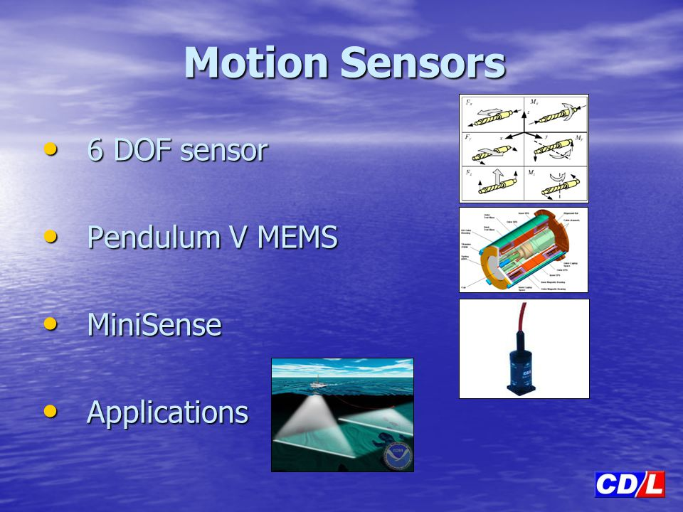 6 DOF sensor Pendulum V MEMS MiniSense Applications