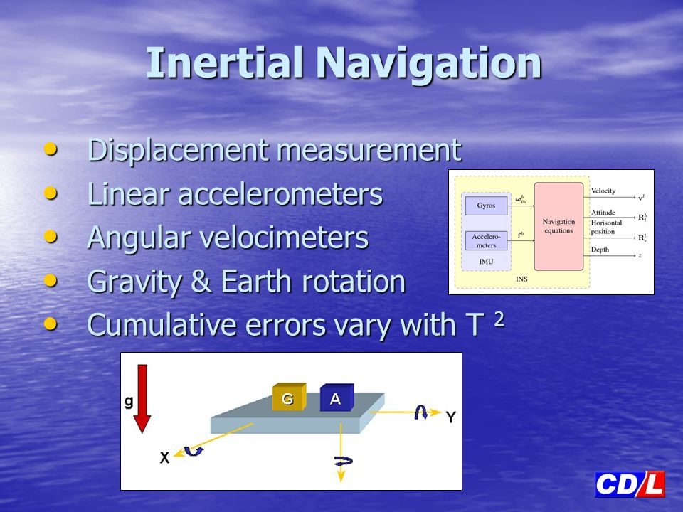 Inertial Navigation Displacement measurement Linear accelerometers