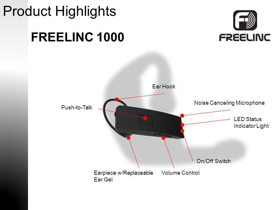 Product Highlights FREELINC 1000 Ear Hook Noise Canceling Microphone