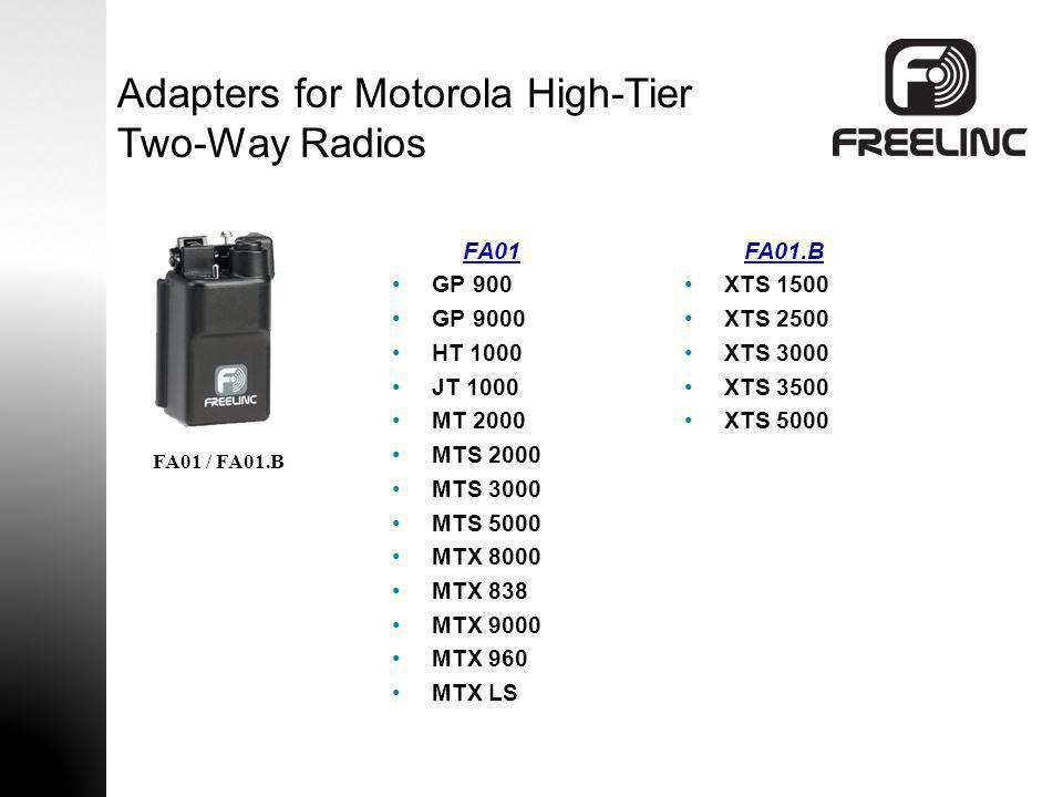 Adapters for Motorola High-Tier Two-Way Radios