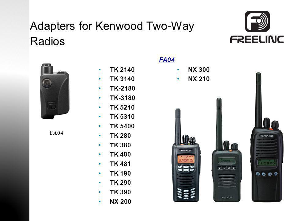 Adapters for Kenwood Two-Way Radios