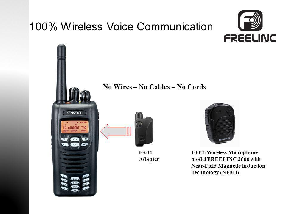 100% Wireless Voice Communication