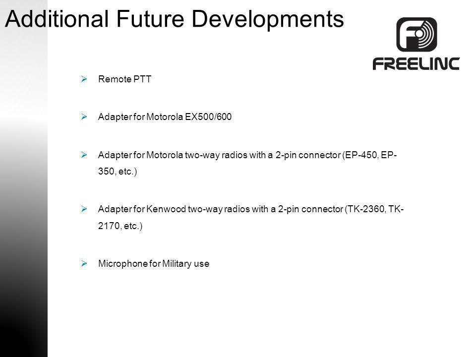 Additional Future Developments