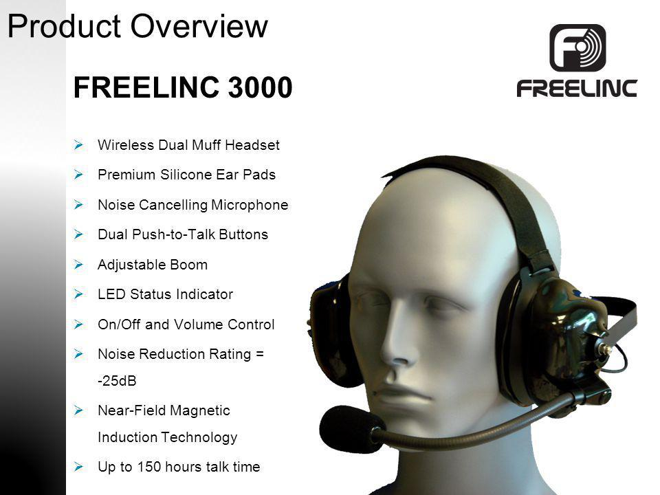 Product Overview FREELINC 3000 Wireless Dual Muff Headset