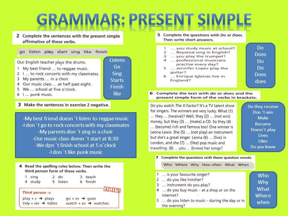 Grammar: Present Simple