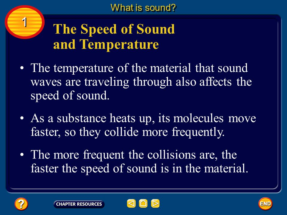 The Speed of Sound and Temperature