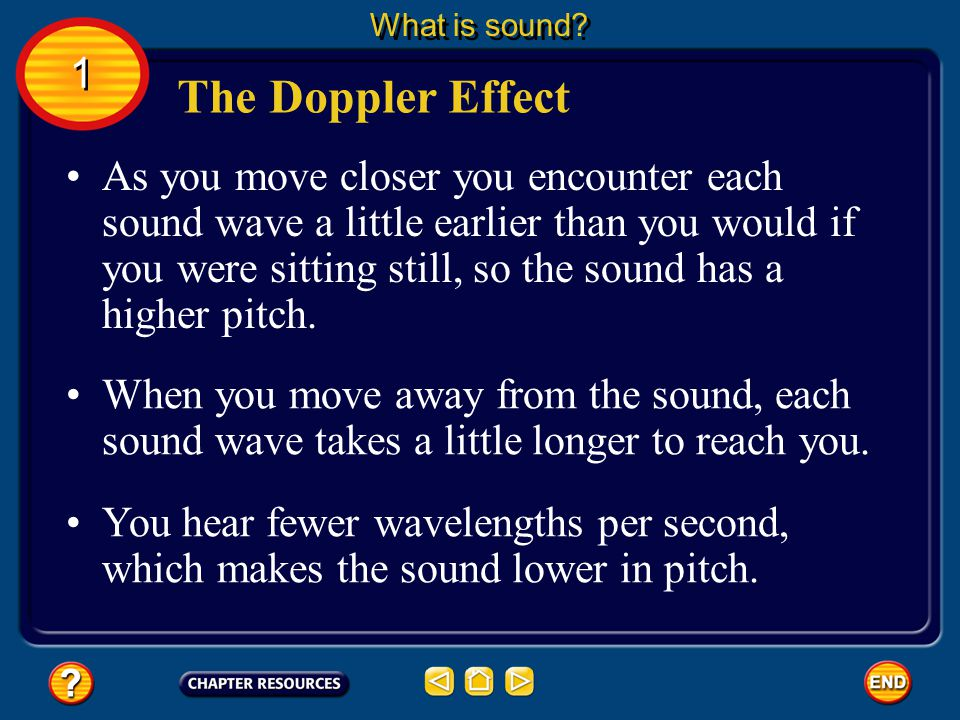 What is sound 1. The Doppler Effect.