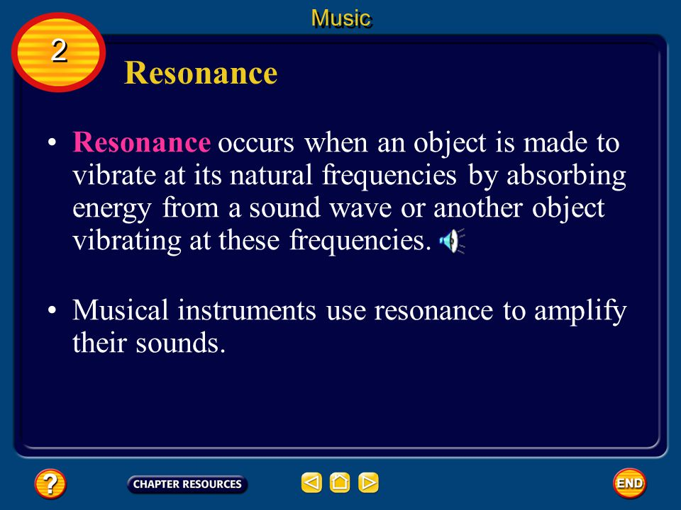 Music 2. Resonance.