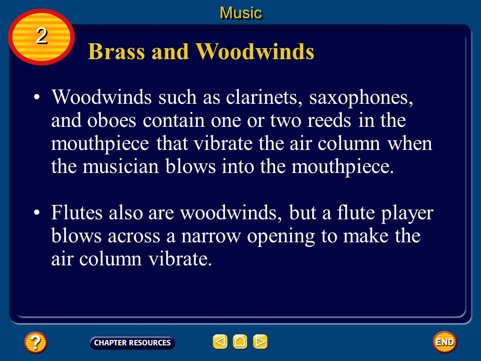 Music 2. Brass and Woodwinds.