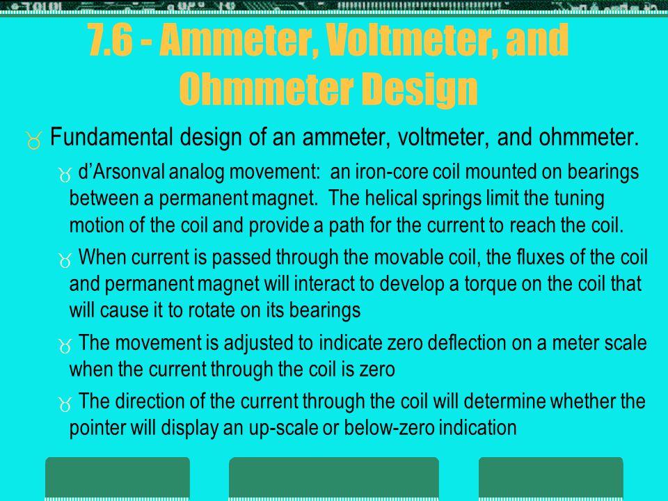 7.6 - Ammeter, Voltmeter, and Ohmmeter Design