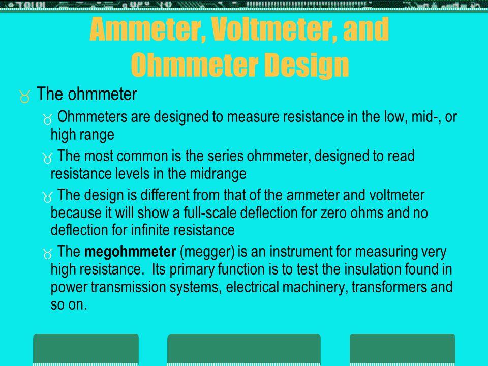 Ammeter, Voltmeter, and Ohmmeter Design