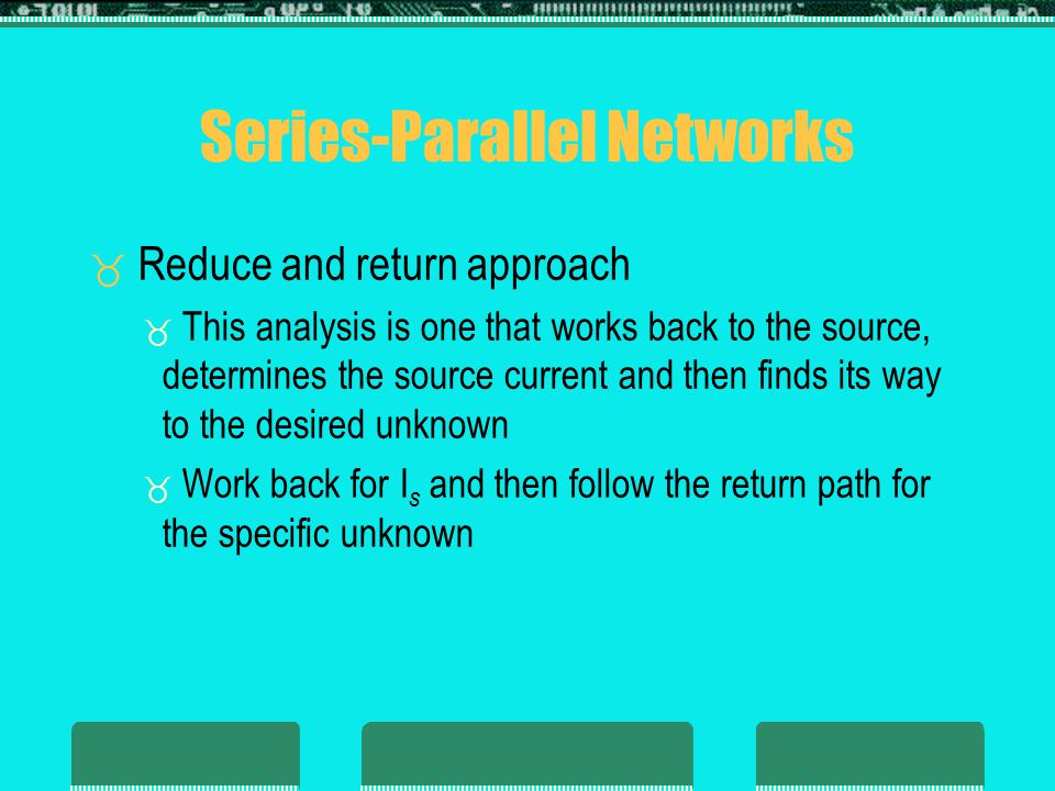 Series-Parallel Networks