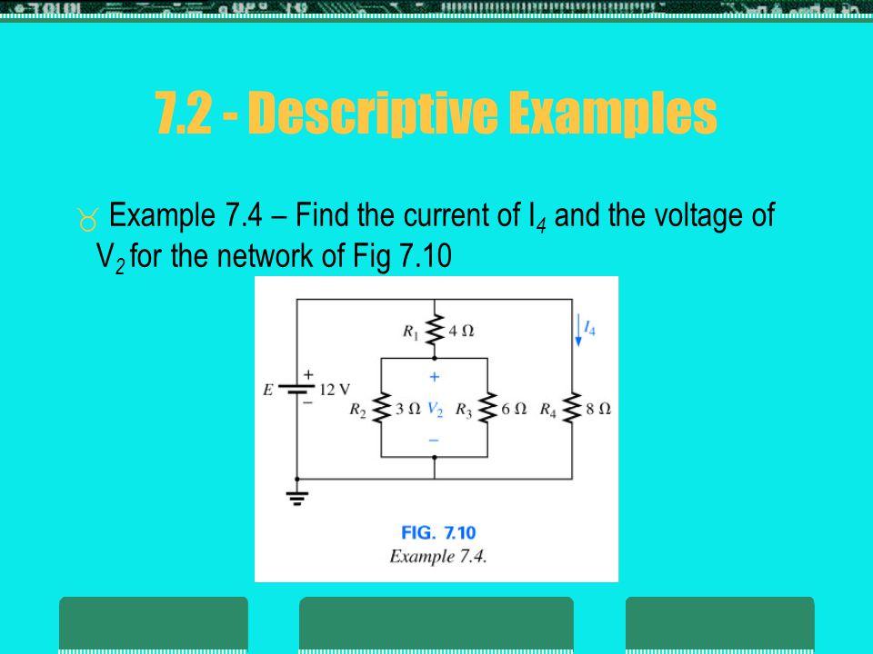7.2 - Descriptive Examples