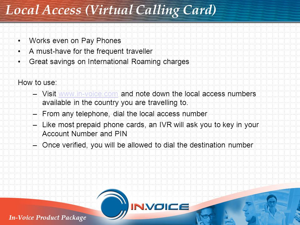 Local Access (Virtual Calling Card)