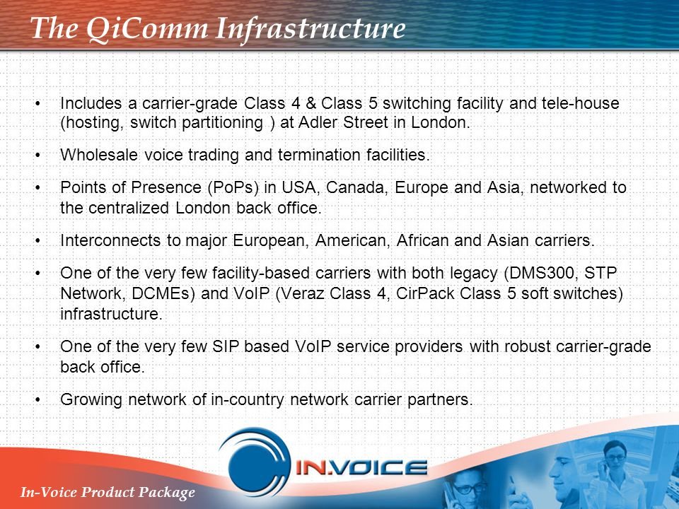 The QiComm Infrastructure