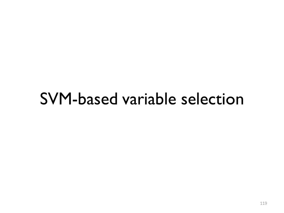 SVM-based variable selection