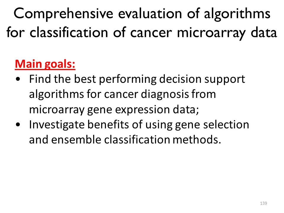 Comprehensive evaluation of algorithms for classification of cancer microarray data