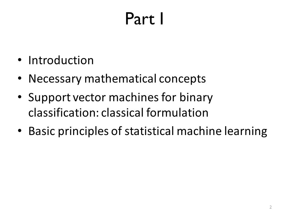 Part I Introduction Necessary mathematical concepts