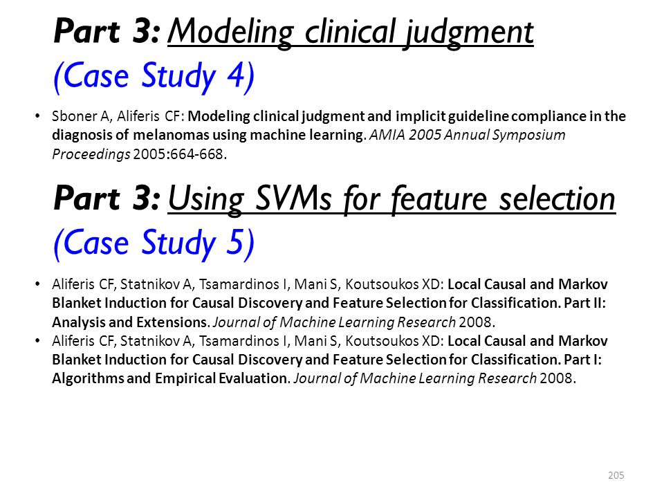 Part 3: Modeling clinical judgment (Case Study 4)
