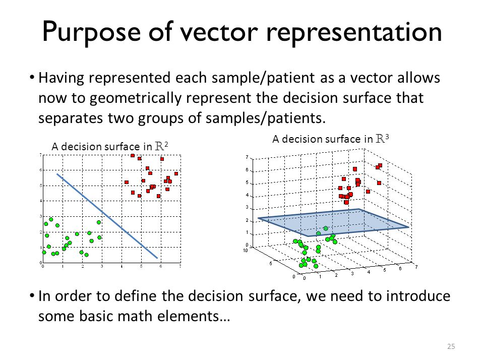 Purpose of vector representation