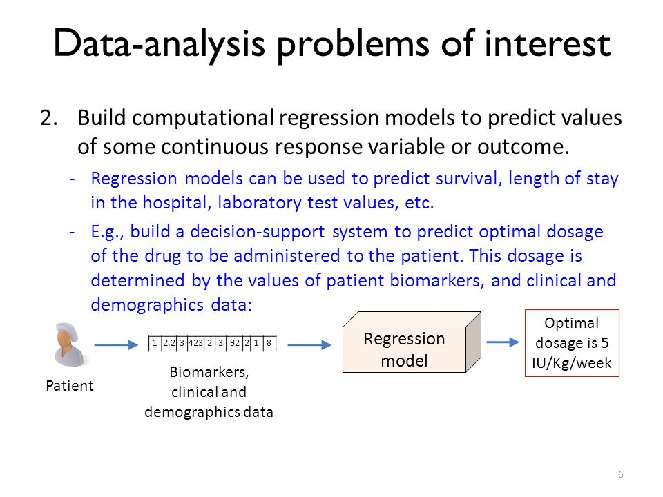 Data-analysis problems of interest