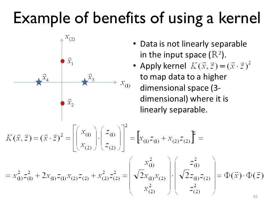 Example of benefits of using a kernel
