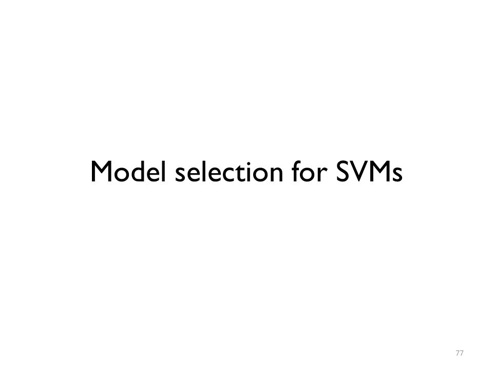 Model selection for SVMs