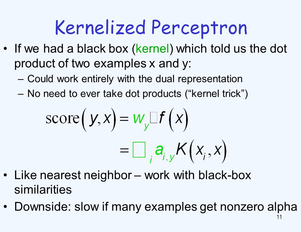 Kernelized Perceptron Structure