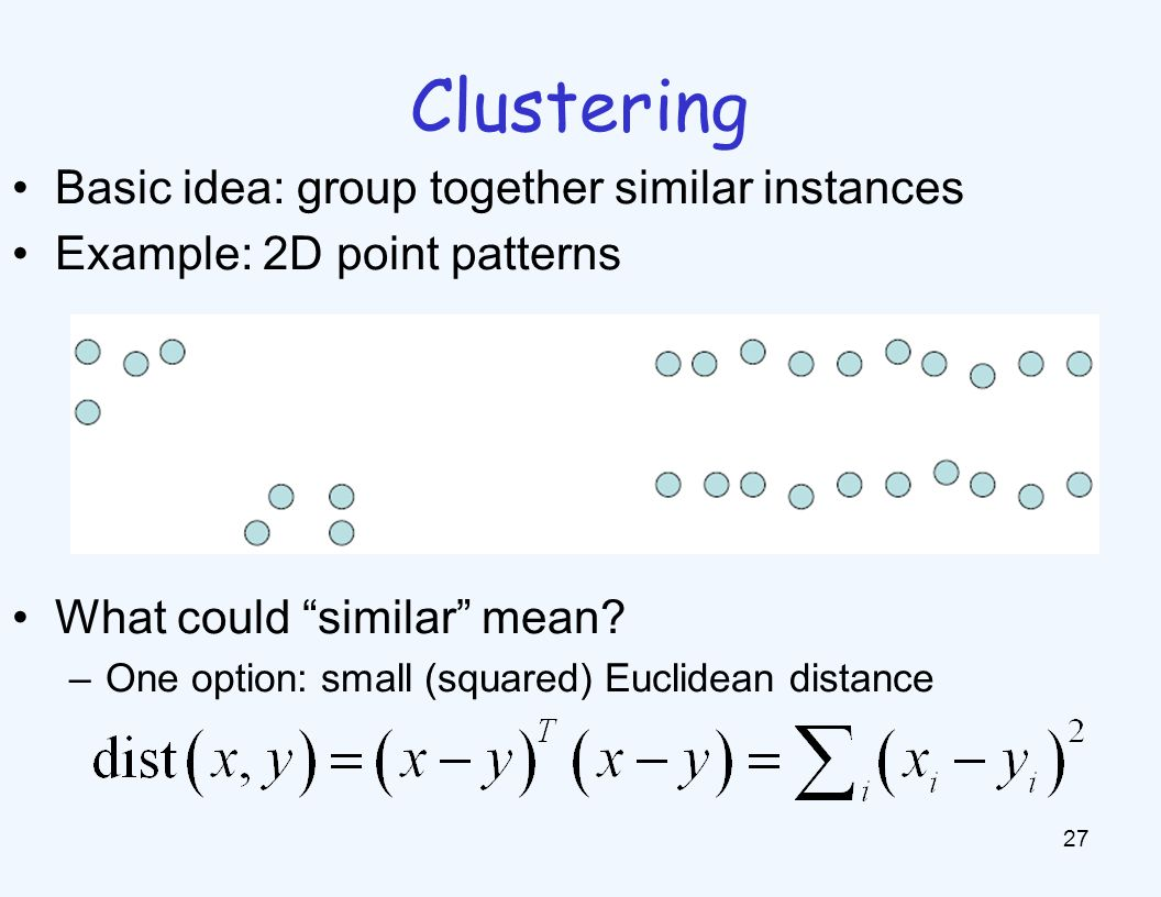 K-Means An iterative clustering algorithm