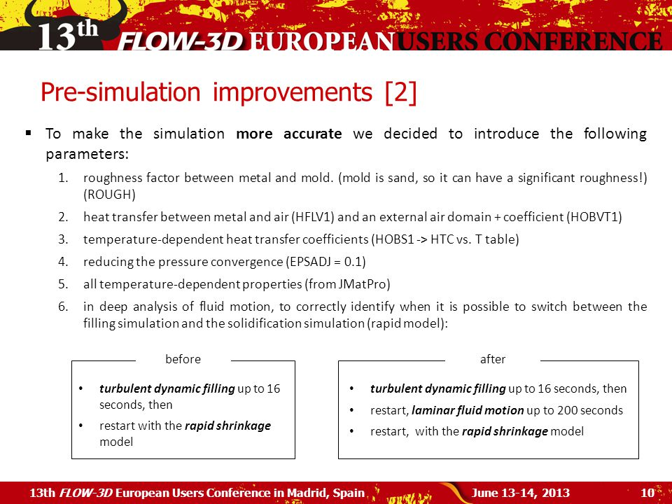 Pre-simulation improvements [2]