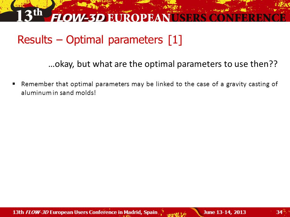 Results – Optimal parameters [1]