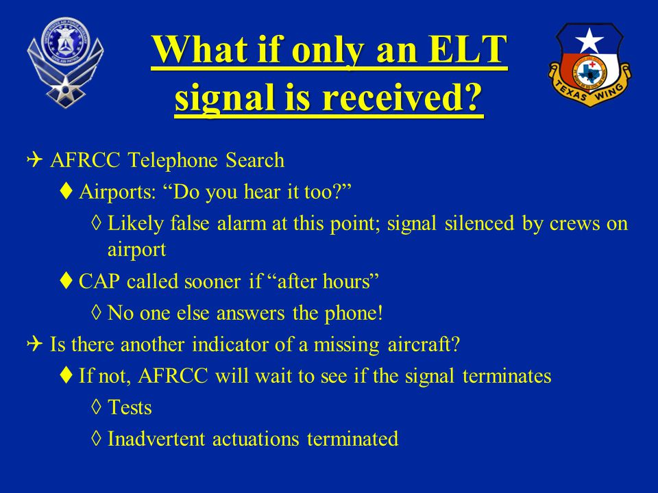 What if only an ELT signal is received