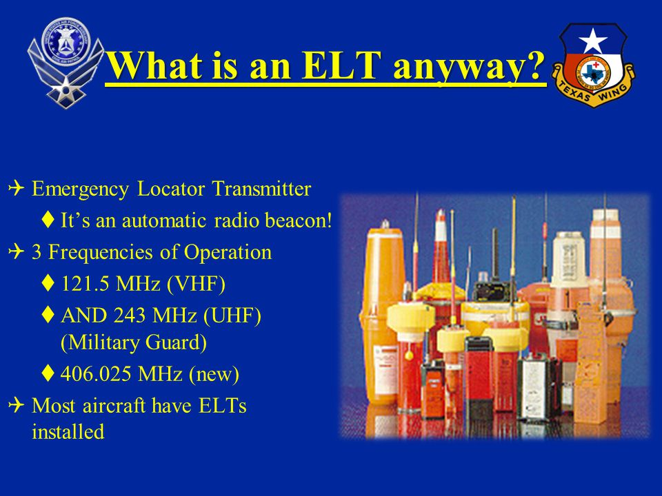 What is an ELT anyway Emergency Locator Transmitter