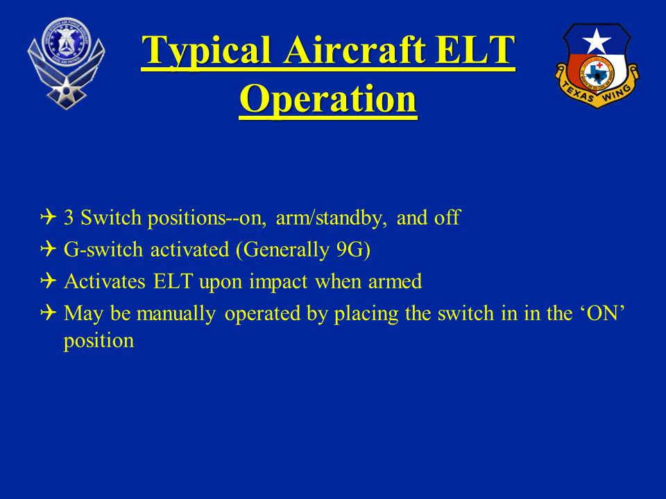 Typical Aircraft ELT Operation