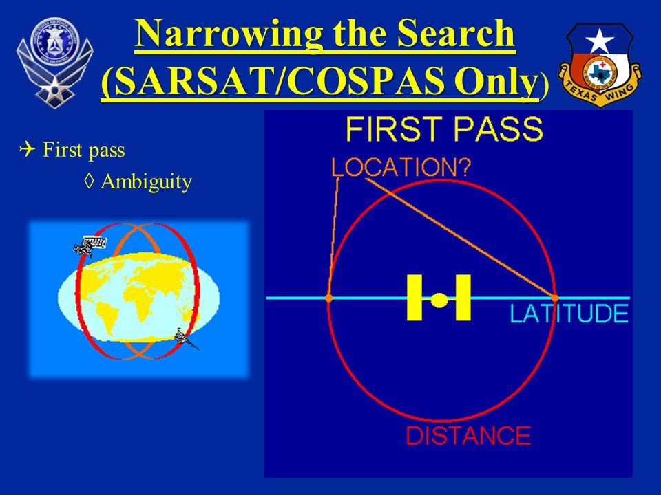 Narrowing the Search (SARSAT/COSPAS Only)