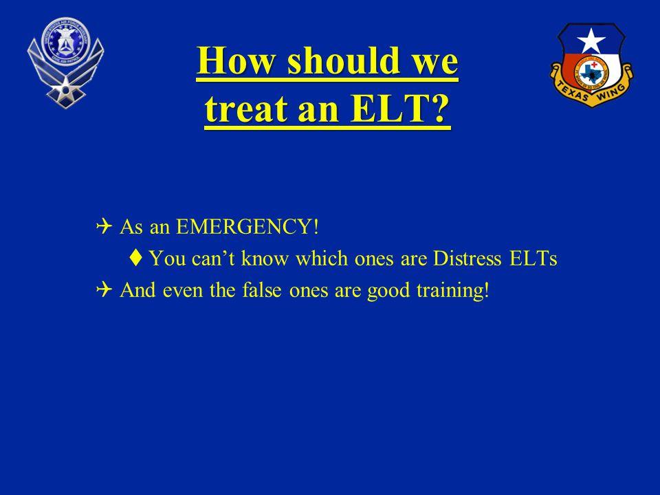 How should we treat an ELT