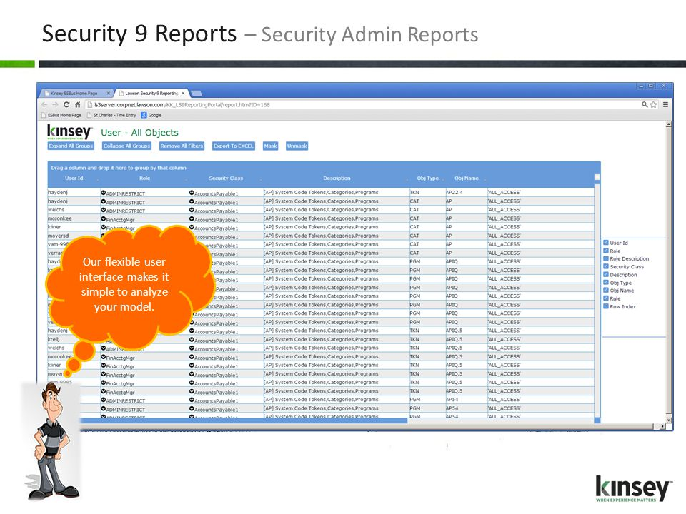 Security 9 Reports – Security Admin Reports