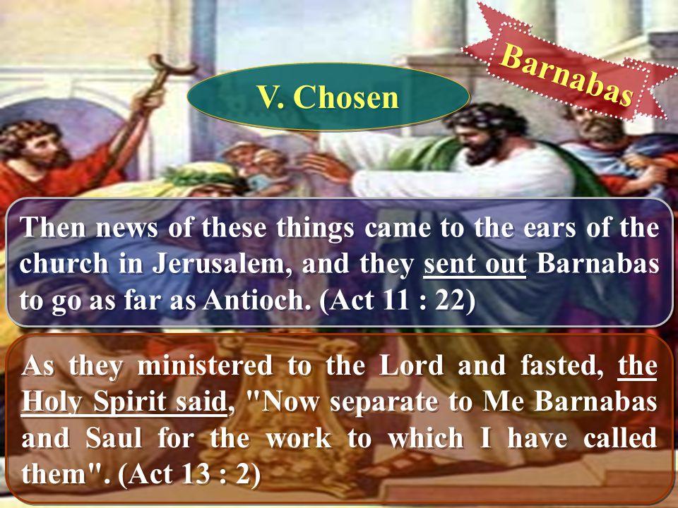 Barnabas V. Chosen.